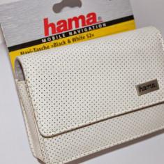 Husa pentru sistem de navigatie Hama Black & White NaviBag, Alb, 4.3