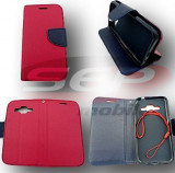 Toc FlipCover Fancy Sony Xperia Z1 Compact RED-NAVY, Rosu, Piele Ecologica