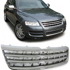 Grila fara semn VW Touareg (7L) 02-06 (inainte de Facelift) crom - Grile Tuning Diederichs, Volkswagen, TOUAREG (7LA, 7L6, 7L7) - [2002 - 2010]