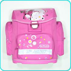 Ghiozdan fete, FIABIL, ergonomic, CADRU DE PROTECTIE din plastic, roz, HERLITZ, Fata