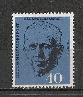 Germania.1960 1 an moarte general G.C.Marshall-Premiul NOBEL  SG.254 foto