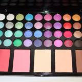 Trusa machiaj Fraulein 40 culori farduri ochi + 5 pudre si blush fard obraz