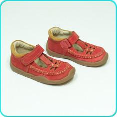 DE CALITATE _ Pantofi DIN PIELE, aerisiti, usori, IMPIDIMPI _ fetite | nr. 25 - Pantofi copii, Culoare: Rosu, Fete, Piele naturala