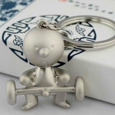 Breloc sport Mr. P boy metalic + cutie simpla cadou - Breloc Auto