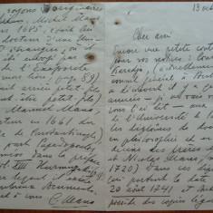Scrisoare a lui Constantin George Manu, diplomat din familie de boieri, 1935 - Autograf