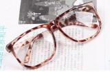 Ochelari unisex lentila clara RETRO material plastic animal print  + toc