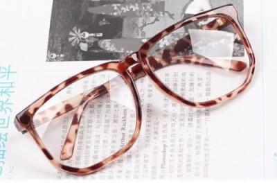 Ochelari unisex lentila clara RETRO material plastic animal print  + toc foto
