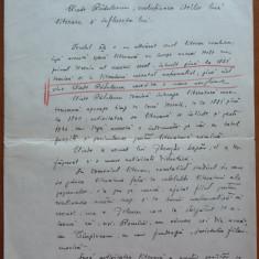 Lucrare scrisa olograf de Tache Papahagi in 1919 si corectata de Bianu, aromani - Autograf