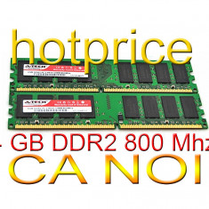 Memorie 4GB RAM DDR2 4 GB INTEL AMD 2x 2 GB PC2-6400 DDR2-800Mhz 240 pin desktop - Memorie RAM