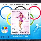 Timbre ROMANIA 1992/*1275 = JOCURI OL. IARNA ALBERTVILLE, MNH, Nestampilat