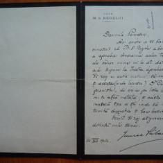 Scrisoare cu antetul Casei Regelui, semnata Gen. Priboianu, decoratii, 1904 - Autograf