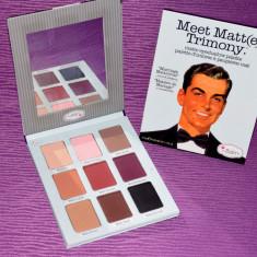 Trusa machiaj Mac Cosmetics 9 culori theBalm cosmetics Meet Matt(e) Trimony paleta farduri