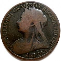 MAREA BRITANIE, REGINA VICTORIA, 1 PENNY 1898, URIASA 31mm., Europa, Cupru (arama)