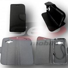 Toc FlipCover Fancy Sony Xperia Z1 Compact BLACK - Husa Telefon, Negru