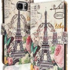 Toc FlipCover Fancy Sony Xperia Z3 Compact PARIS - Husa Telefon, Piele Ecologica, Cu clapeta, Husa