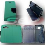 Toc FlipCover Fancy Sony Xperia Z1 Compact MINT-NAVY, Alta, Piele Ecologica