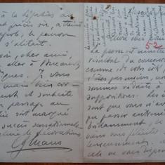 Scrisoare a lui C-tin George Manu, diplomat din familie de boieri, 1903 - Autograf