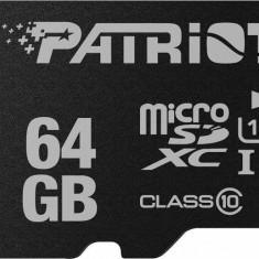 Card memorie Patriot microSDXC 64 GB clasa 10 LX Series W/AD + adaptor SD - Multimedia card