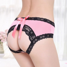 Bikini Tanga Mini G-String Chilotei Sexy  Open Butt Back Dantela Chiloti