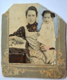 Fotografie veche pe carton 1900 (DETERIORATA)