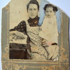 Fotografie veche pe carton 1900 (DETERIORATA), Alb-Negru, Europa