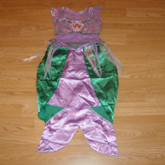 Costum carnaval serbare sirena ariel pentru copii de 4-5 ani - Costum Halloween, Marime: Masura unica, Culoare: Din imagine
