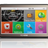 "GPS Auto Techstar NView 5"" Resigilat HD, 5 inch, Fara harta"