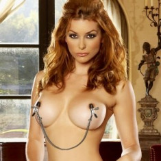 Cleme Sfarcuri cu lant Metalice Sani Fetish Bondage BDSM Nipple Chain