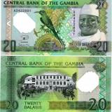 !!! GAMBIA - 20 DALASIS 2014, COMM. - P 30 - UNC // POLIMER - bancnota africa