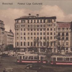 BUCURESTI, PALATUL LIGA CULTURALA - Carte Postala Muntenia dupa 1918, Necirculata, Printata