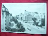 Ilustrata Bucuresti Bdul N.Balcescu ,inainte de constr. Teatrului National -'50, Necirculata, Printata
