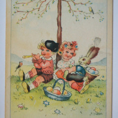 Carte postala veche - tematica Sarbatorile Pascale, germana, Circulata, Printata, Germania