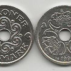 DANEMARCA  2  KRONER  COROANE  1992  [1]  livrare in cartonas, Europa, Cupru-Nichel