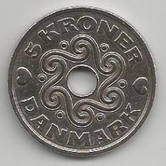 DANEMARCA 5 KRONER COROANE 1995 [1] XF, livrare in cartonas, Europa, Cupru-Nichel