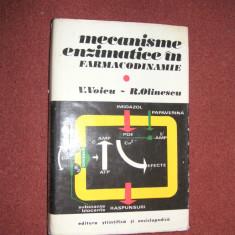 Mecanisme enzimatice in farmacodinamie - V.Voicu, R.Olinescu - Carte Farmacologie