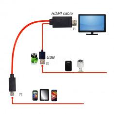 Adaptor micro usb MHL la hdmi, Samsung Galaxy S2 i9100 i9220 i9250, HTC one