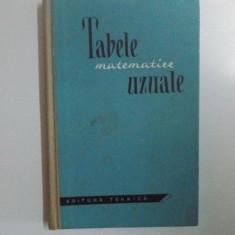 TABELE MATEMATICE UZUALE BUC.1961 - Carte Matematica
