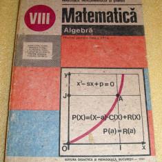 Matematica / Algebra clasa a VIII a - Craciunel / Fianu / Gaiu - Manual scolar Altele, Clasa 8