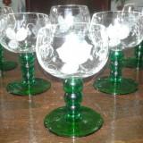 Pahare de cristal gravate - Arta din Sticla