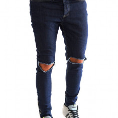 Blugi tip Zara conici taiati in genunchi - MODEL NOU - 6971 - Blugi barbati, Marime: 29, 36, Culoare: Din imagine, Slim Fit