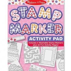 Set De Stampile Marker Si Caiet Cu Activitati Melissa And Doug Roz - Jocuri arta si creatie Melissa & Doug