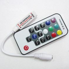 Mini Controller RGB RF 17 taste banda LED 3528 5050 multicolor Telecomanda radio