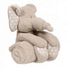 Jucarie De Plus Cu Paturica Pentru Bebelusi Zimbe Elefantul - Jucarie zornaitoare