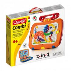 Tablita Magnetica Cu Litere 2 In 1 Cu Piese Mozaic Si Desene Magnetice Quercetti Pentru Copii - Jocuri arta si creatie