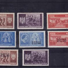 ROMANIA 1941, LP 146 I, LP 146 III, FRATIA DE ARME SI SUPRATIPAR ODESA, MNH - Timbre Romania, Nestampilat