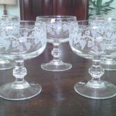 Pahare de cristal gravat - Arta din Sticla