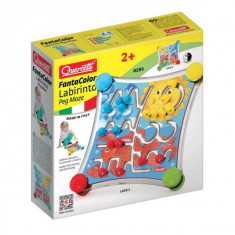 Jucarie Copii Labirint Cu Piese De Asociat Quercetti Cu 2 Fete Diferite Si 12 Trasee De Parcurs - Jocuri arta si creatie