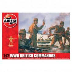 Kit Soldati Airfix 01732 Set 40 Soldati Wwii Comando Britanic Scara 1:72 - Set de constructie