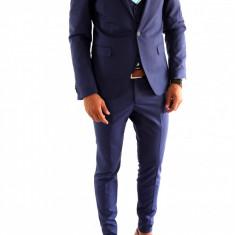 Costum tip ZARA - sacou + vesta + pantaloni costum barbati casual office - 6982, Marime: 44, 46, 50, Culoare: Din imagine