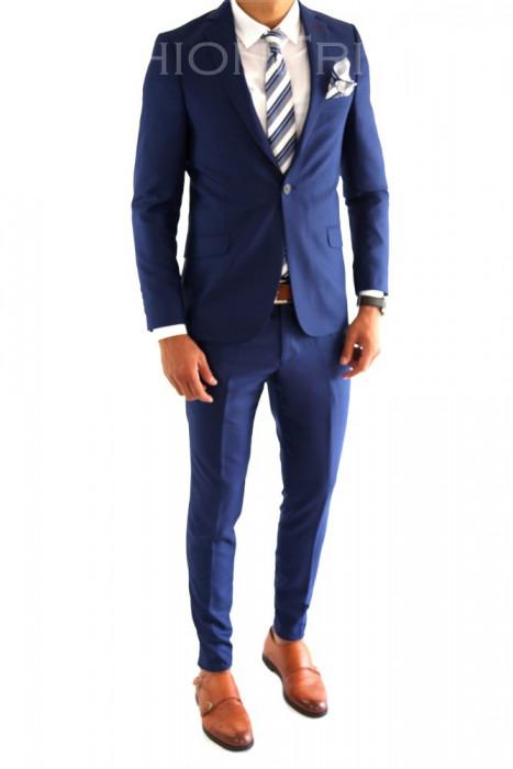 Costum tip ZARA - sacou + pantaloni costum barbati casual office  - 6980 foto mare
